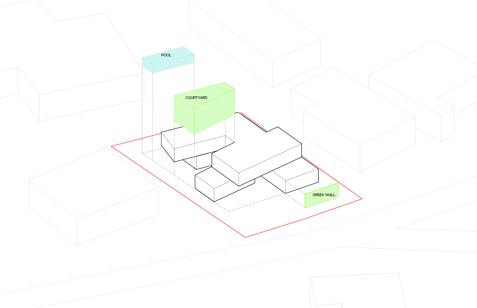 Garden House Landscape Diagram