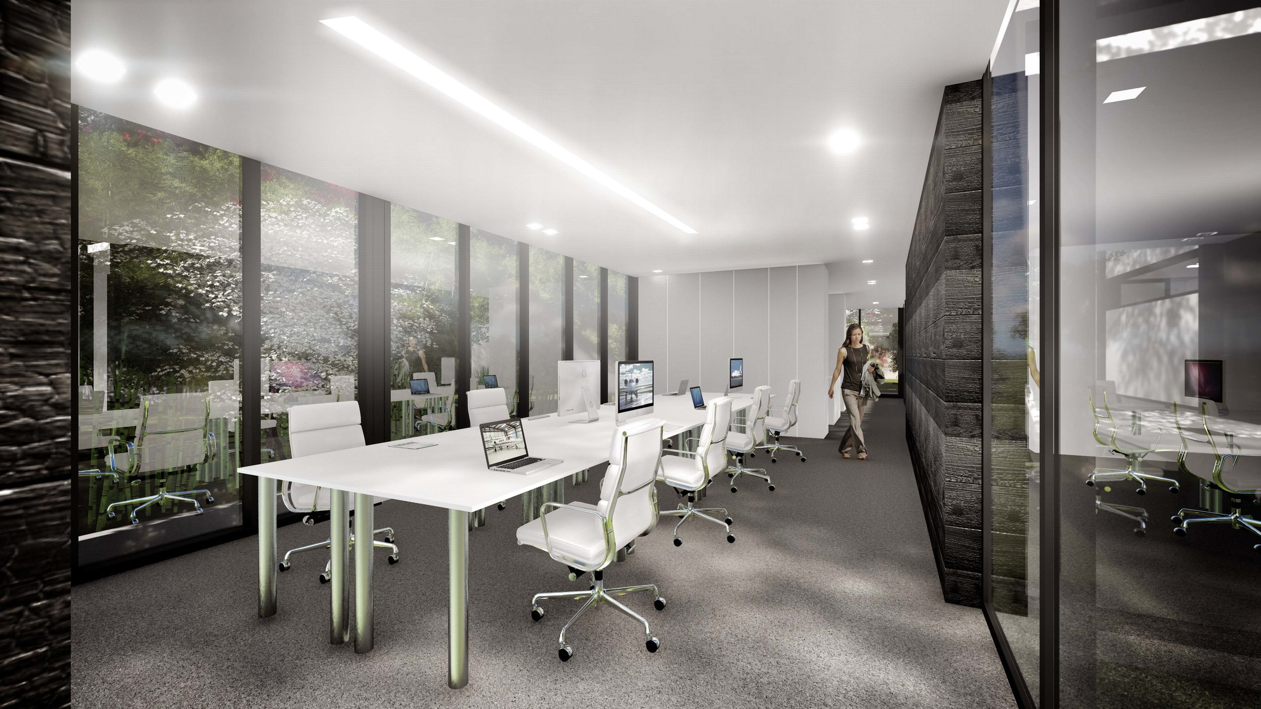 Aviation Design Center Modern Office Interior