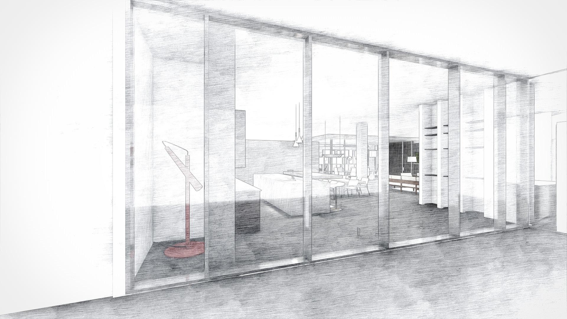 Contemporary Waiting Room Armazem Showroom Dania Beach, FL