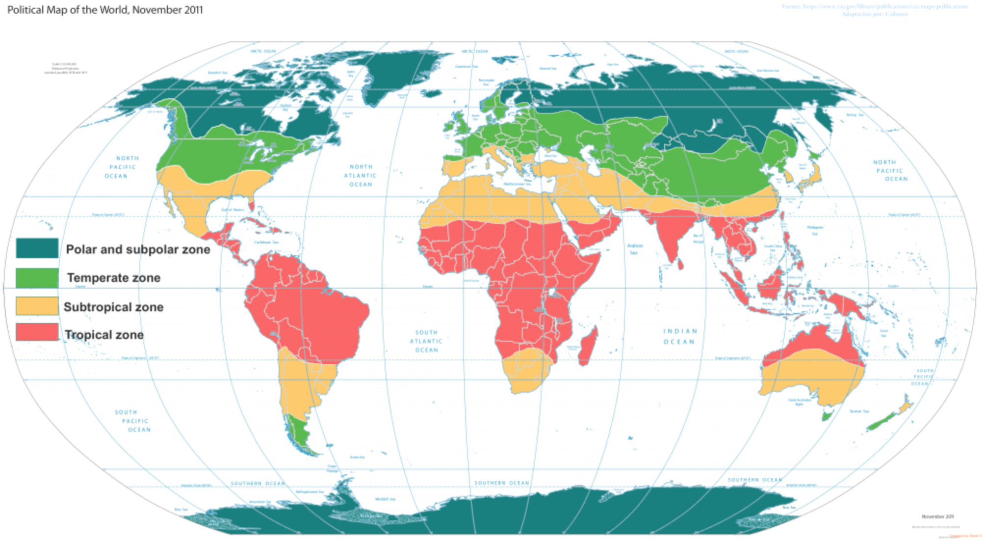 Political Map of the World, 2011