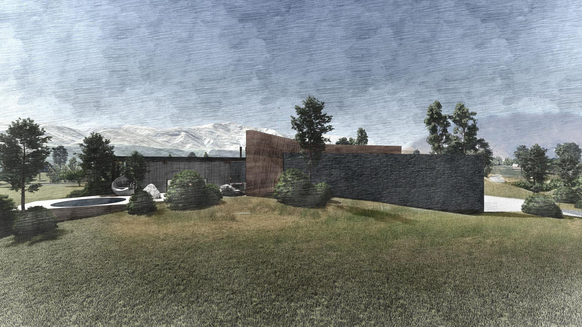Backyard of New Zealand Home designed by KoDA Miami