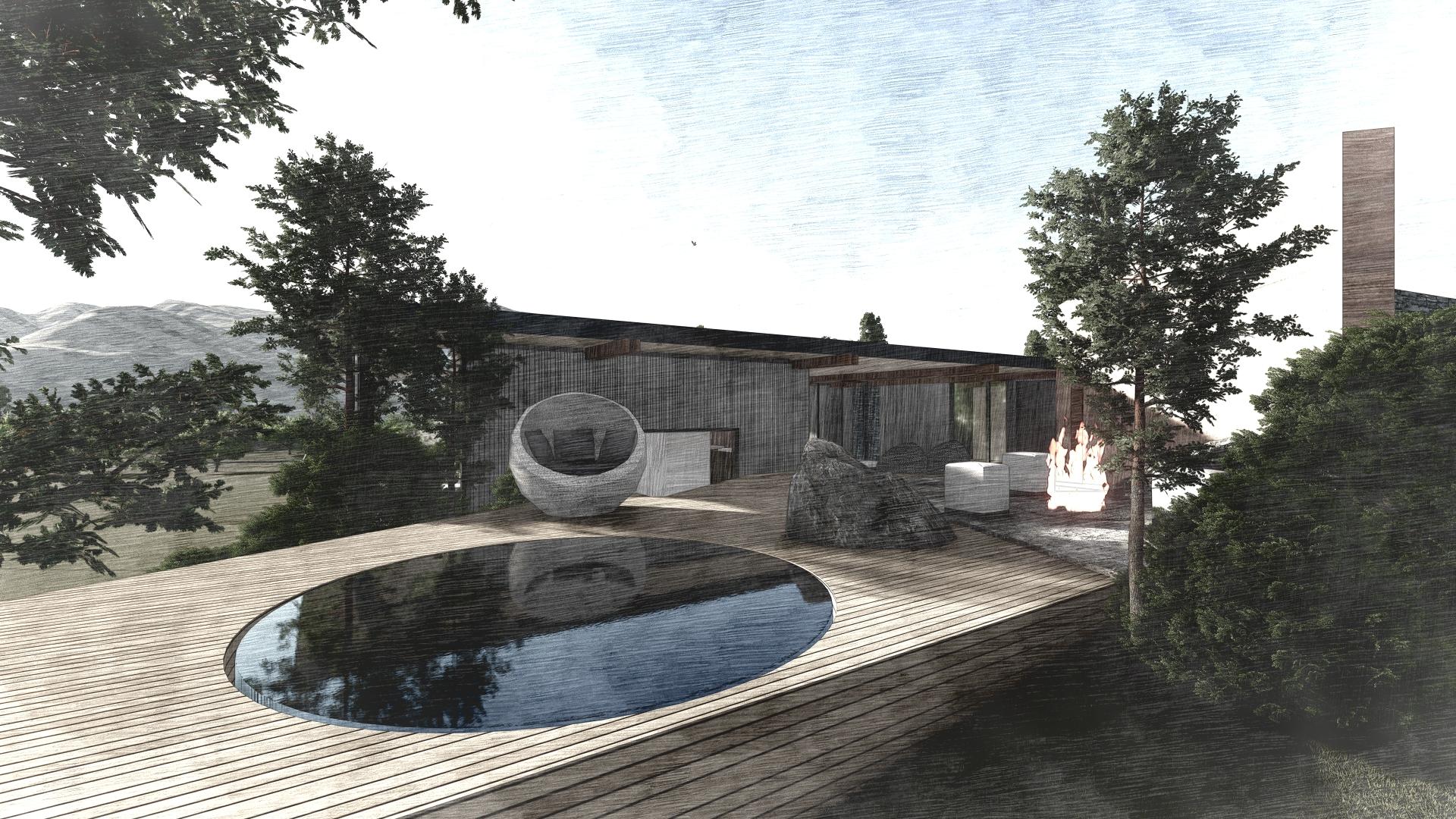 Pool Deck Queenstown New Zealand designed by KoDA