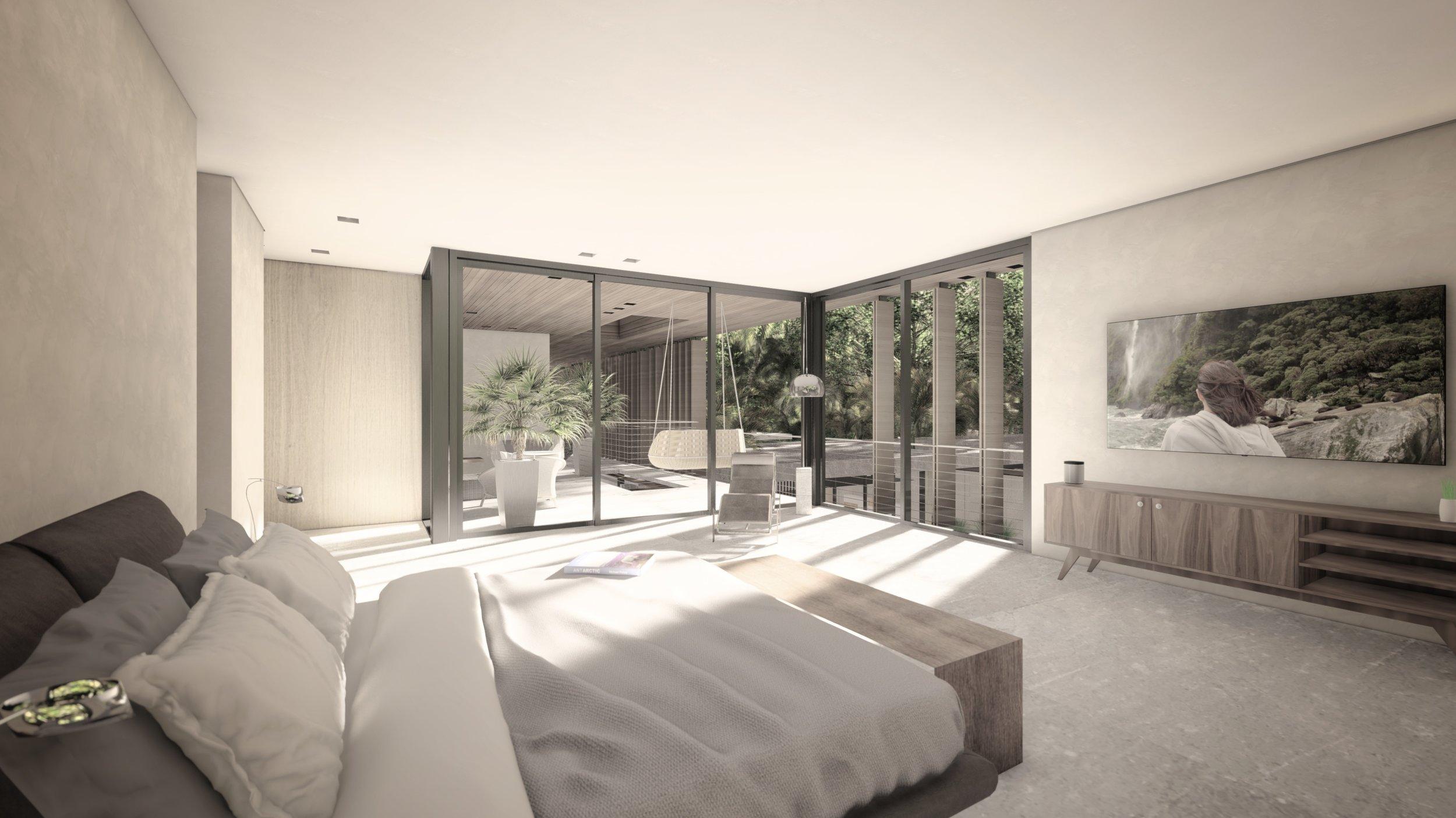Master Bedroom Coconut Grove Luxury Home by KoDA