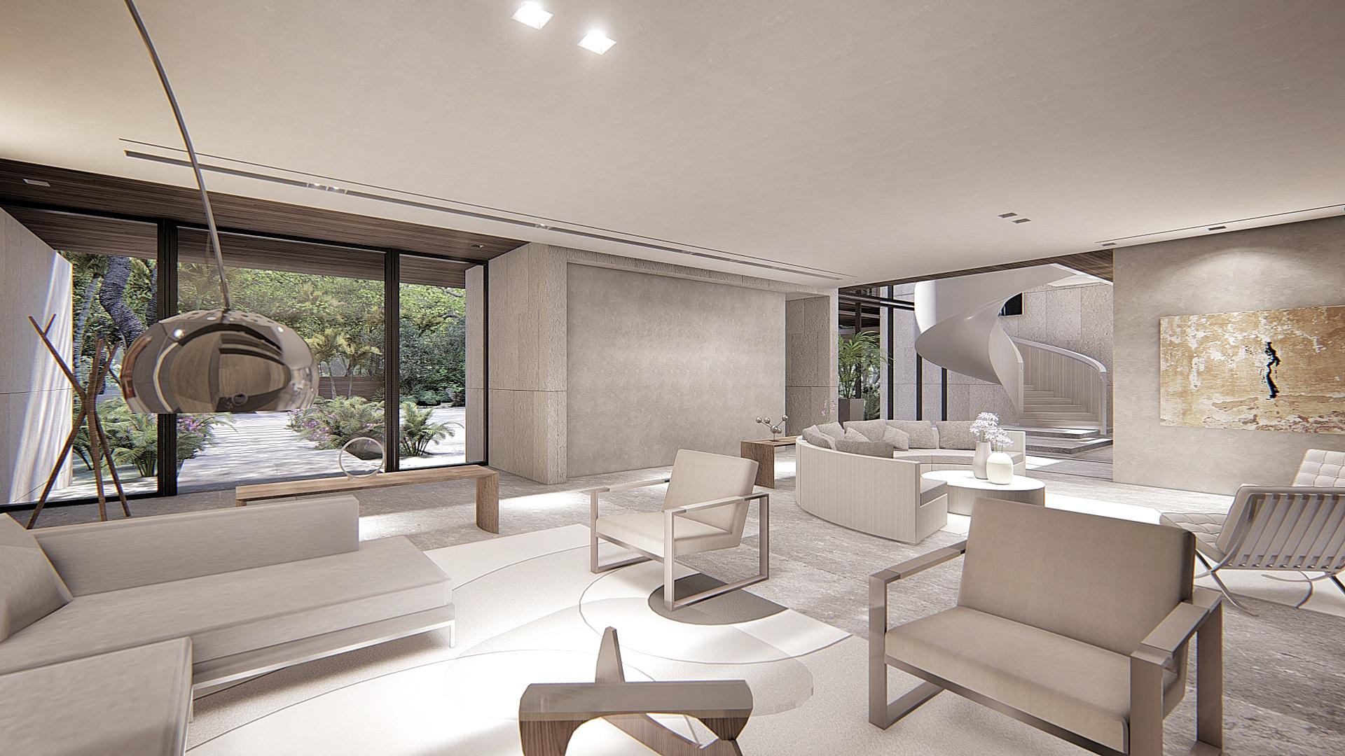 Contemporary Living Room Miami Luxury Home by KoDA