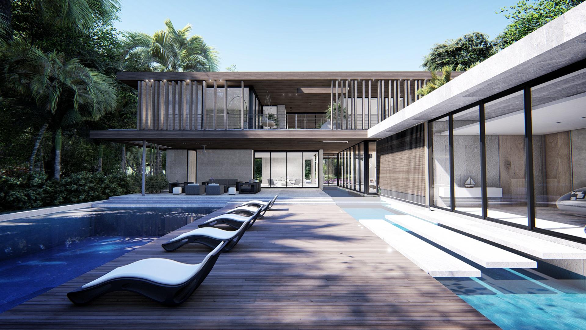 Contemporary Backyard Coconut Grove Miami by KoDA
