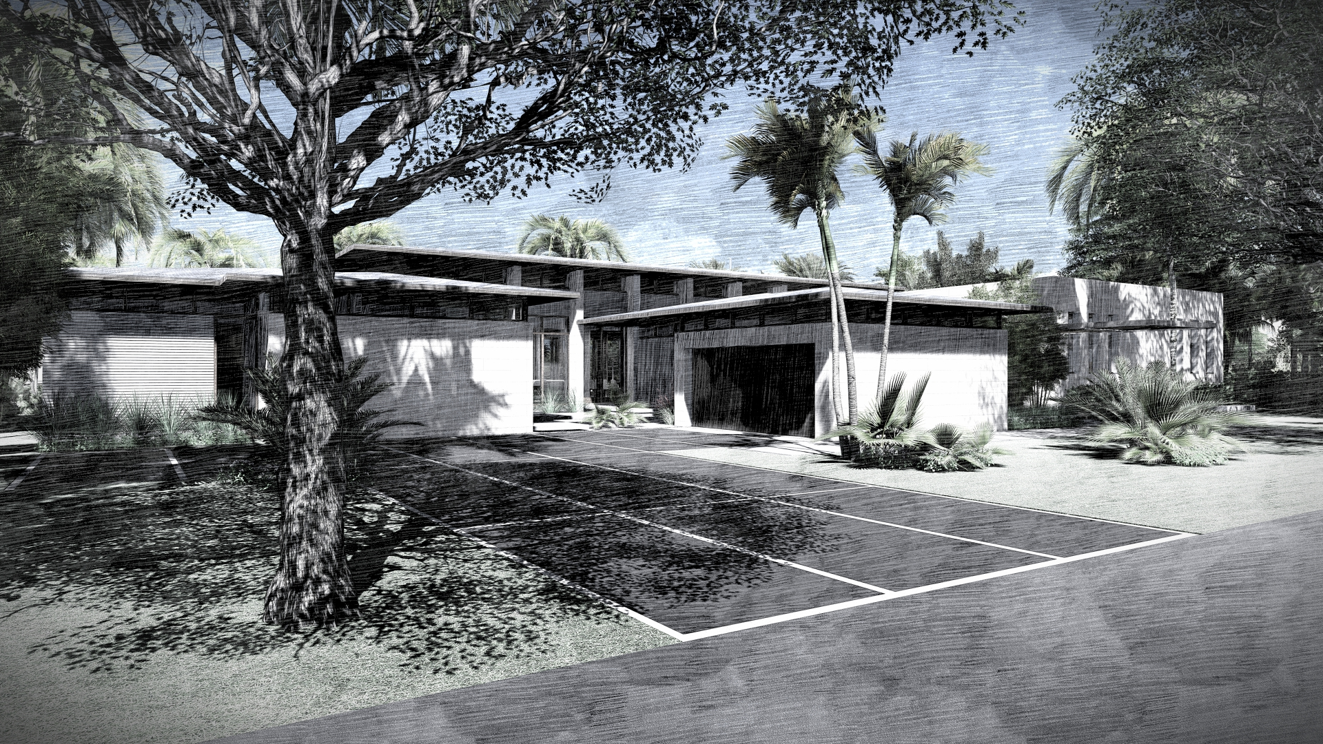 Front Entry Harbour Beach Miami by KoDA