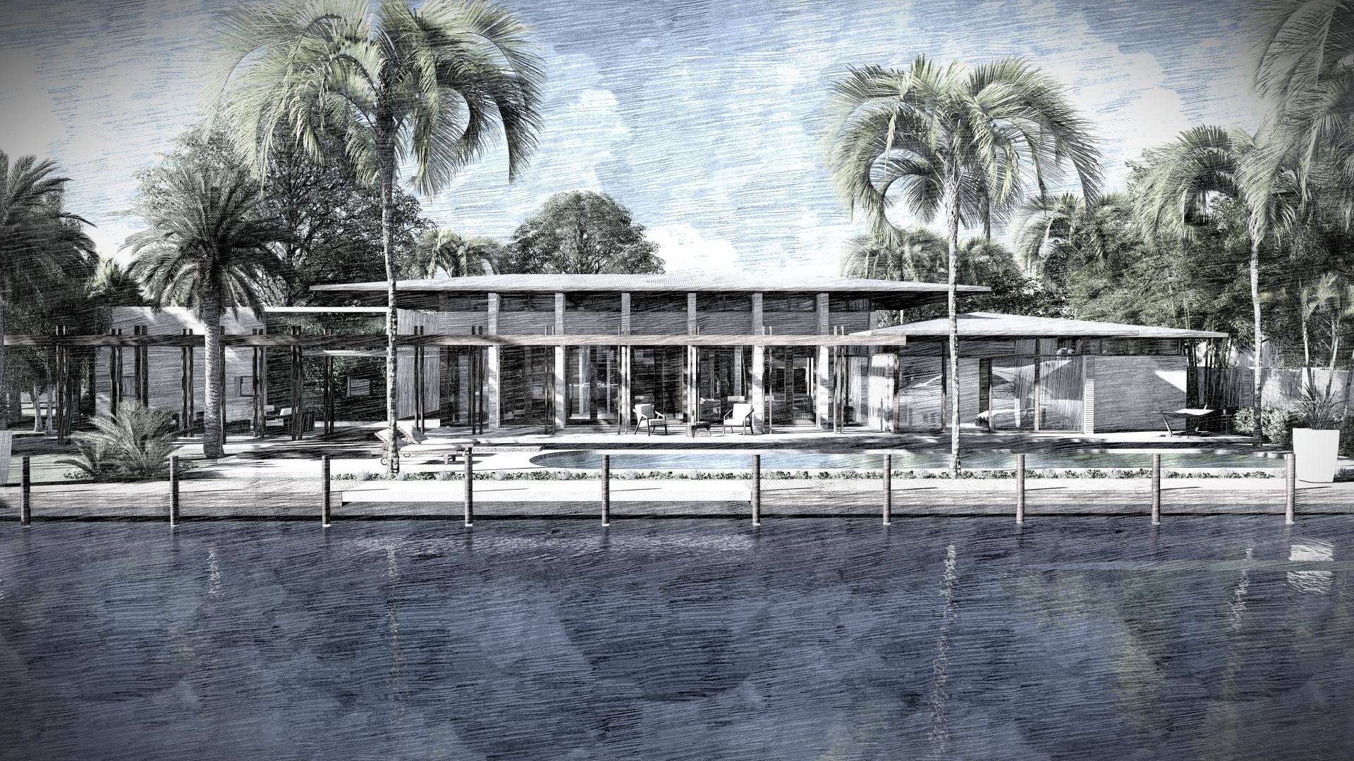 Waterfront Harbour Beach Miami Contemporary Residence by KoDA