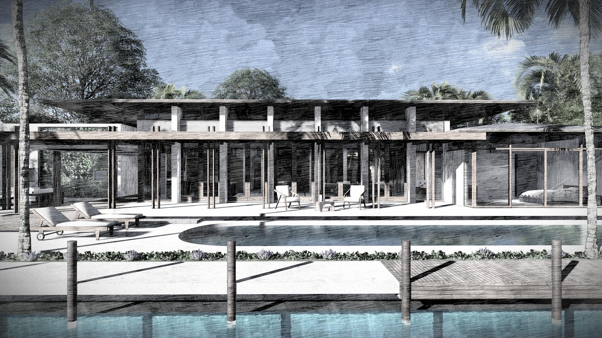 Luxury Backyard Miami Beach by KoDA