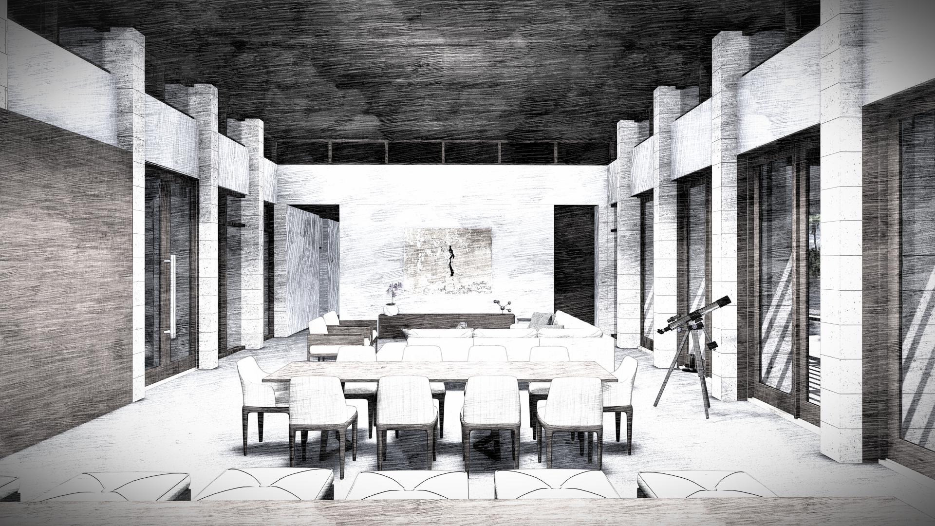Contemporary Dining Room by KoDA Miami