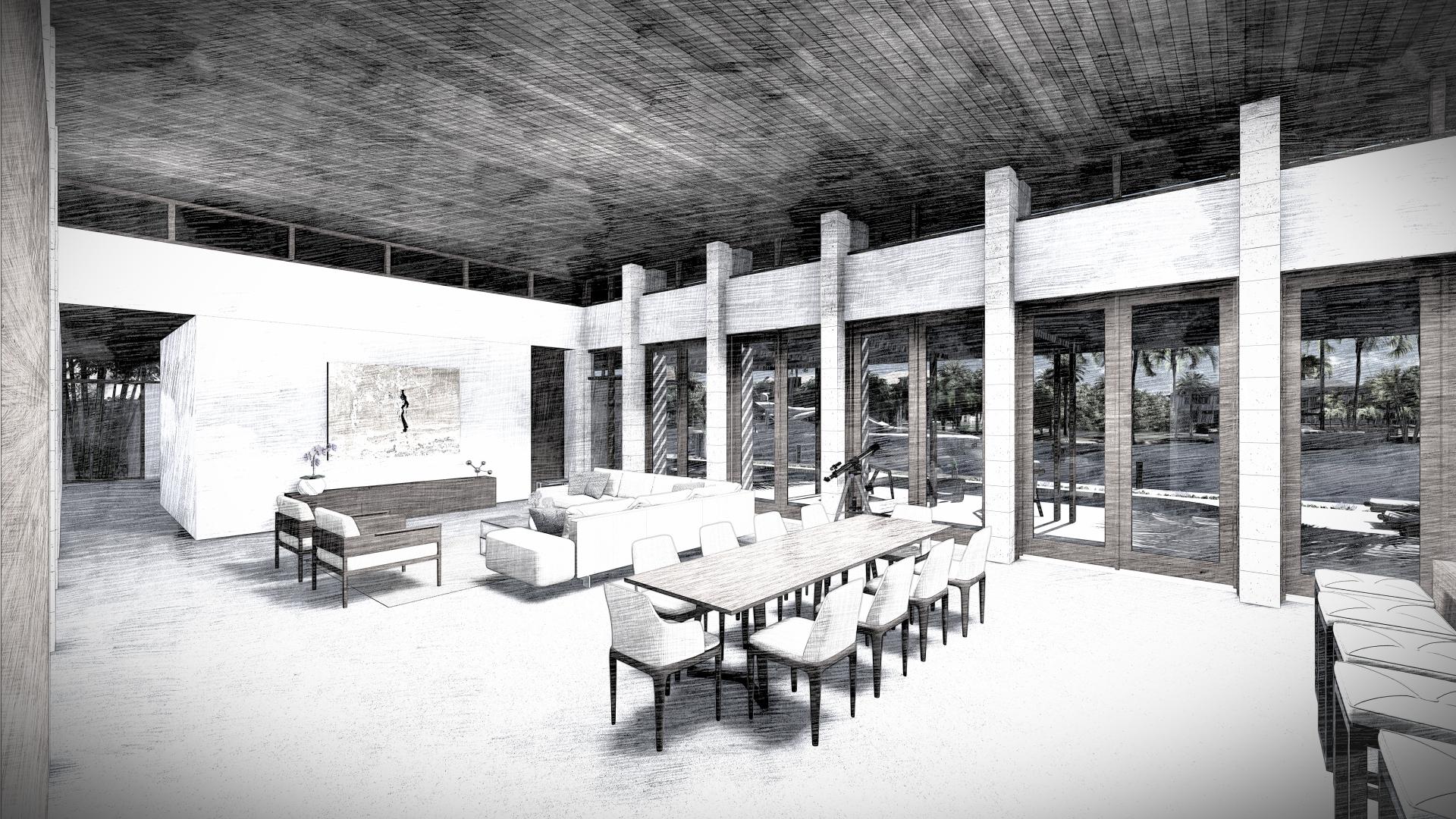 Contemporary Living Room Design Miami Beach Residence
