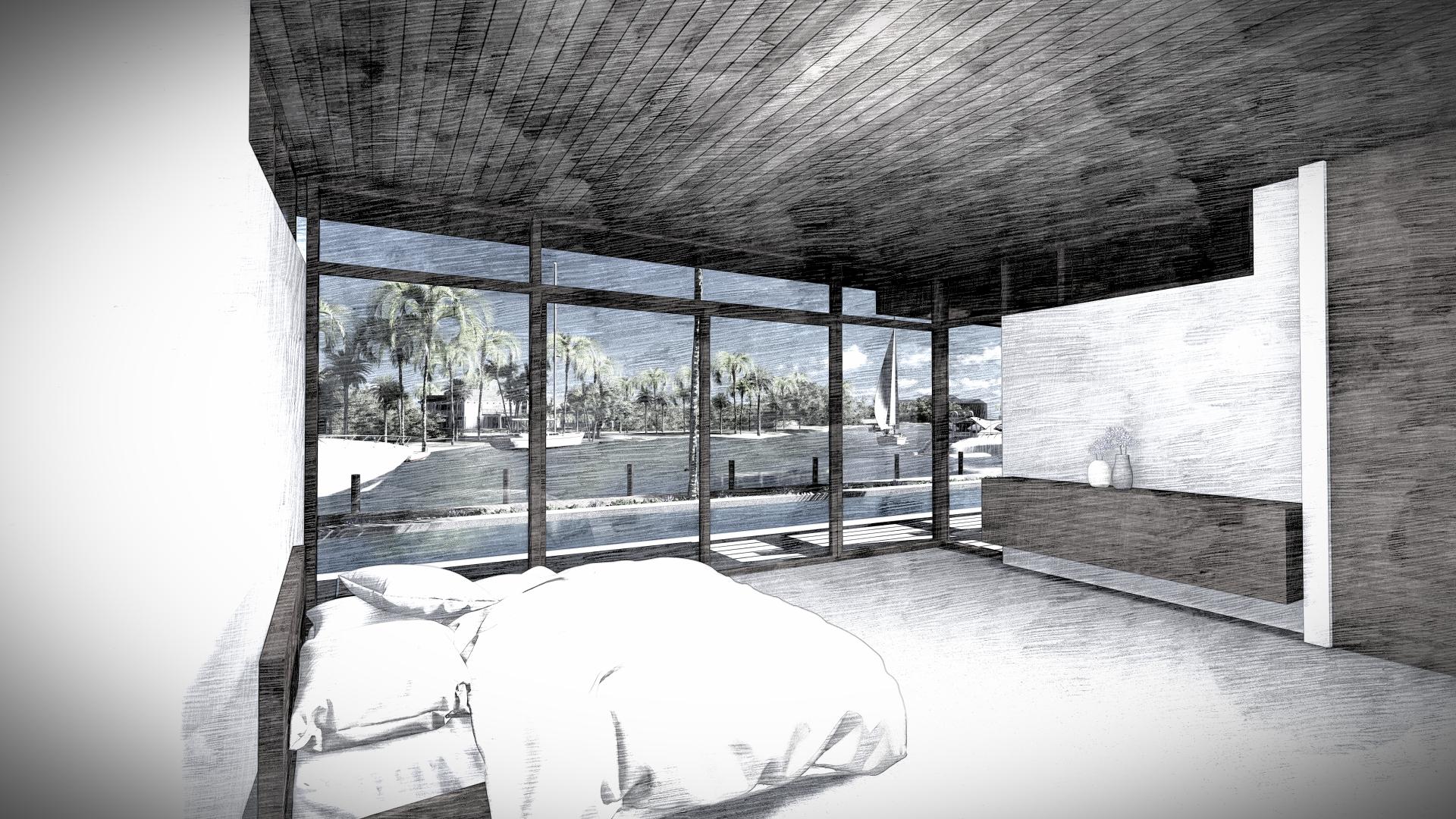 Contemporary Master Bedroom by KoDA Miami