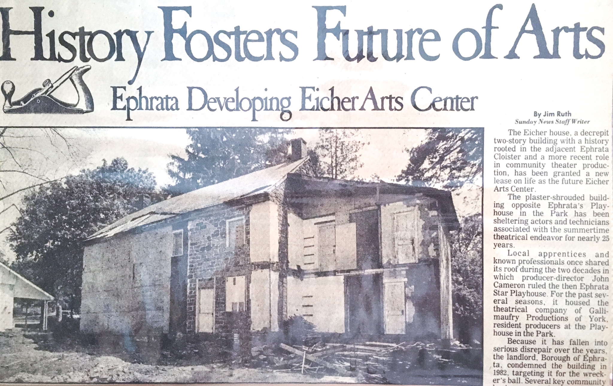 Restoration of the Eicher Cottage & Eicher Sisters' Cabins was completed in 1985.