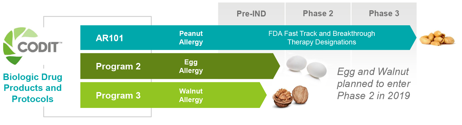 Expanding CODIT™ to Other Major Food Allergies