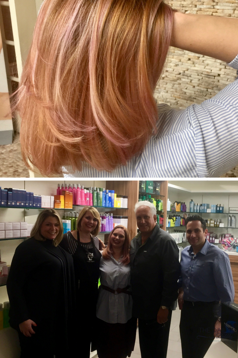 From Left to Right:  Cindy - Hair Designer; Megan - Colorist; Myself (Sarah Fern); Teddie & Alan Kossof Owners of Teddie Kossof Salon & Spa
