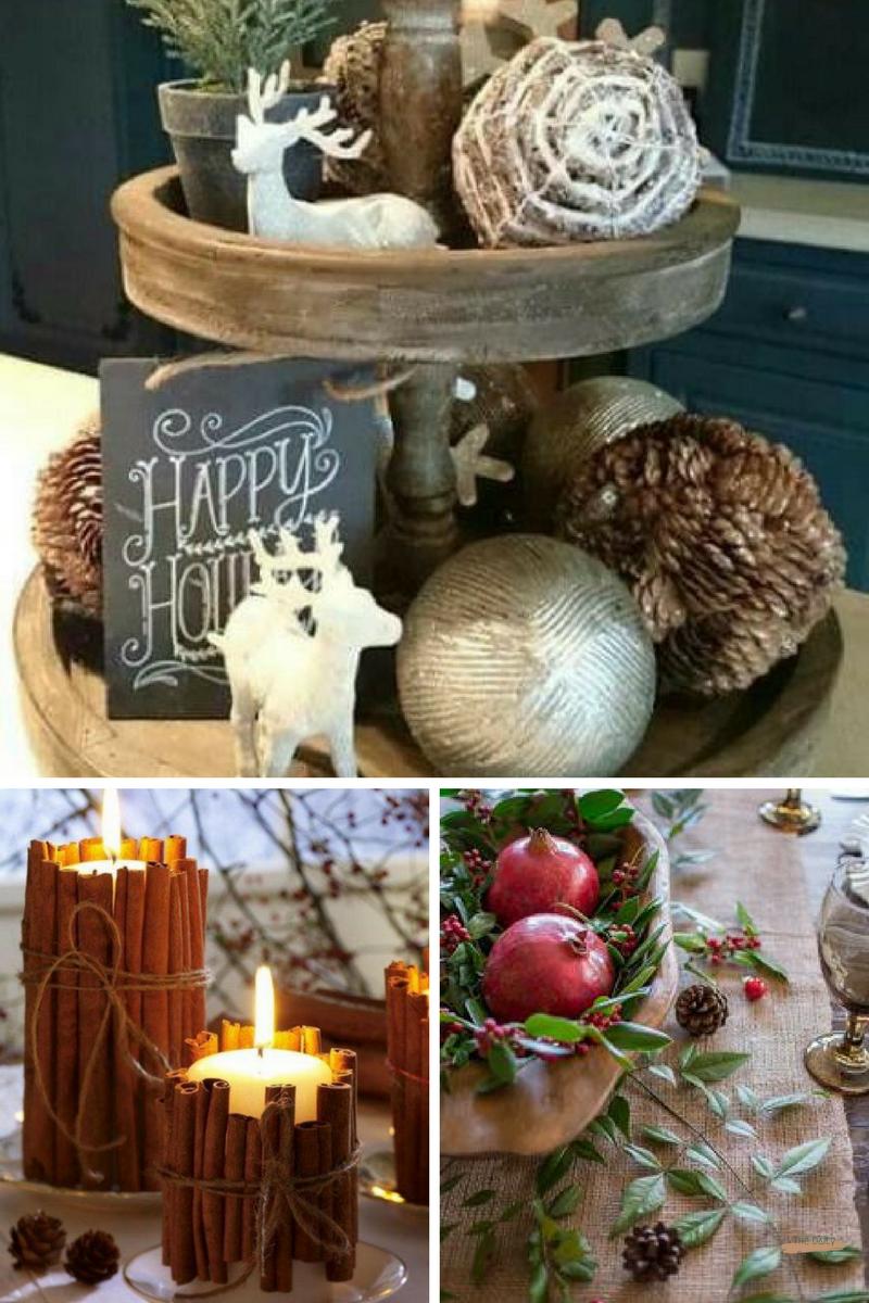 Kitchen Tray Decor   Cinnamon Candles   Tablescape