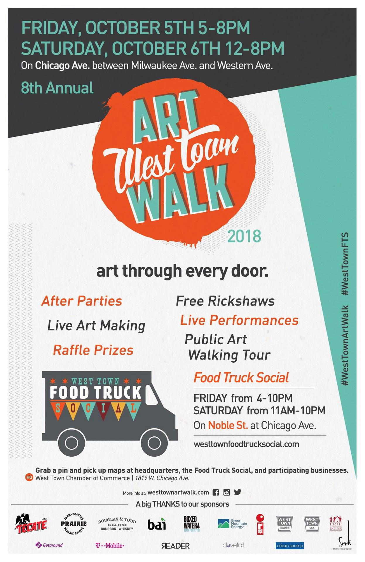 From major sales to can't miss live art demonstrations, head to the link below for details on all the exciting events happening during the #WestTownArtWalk ! www.westtownartwalk.com