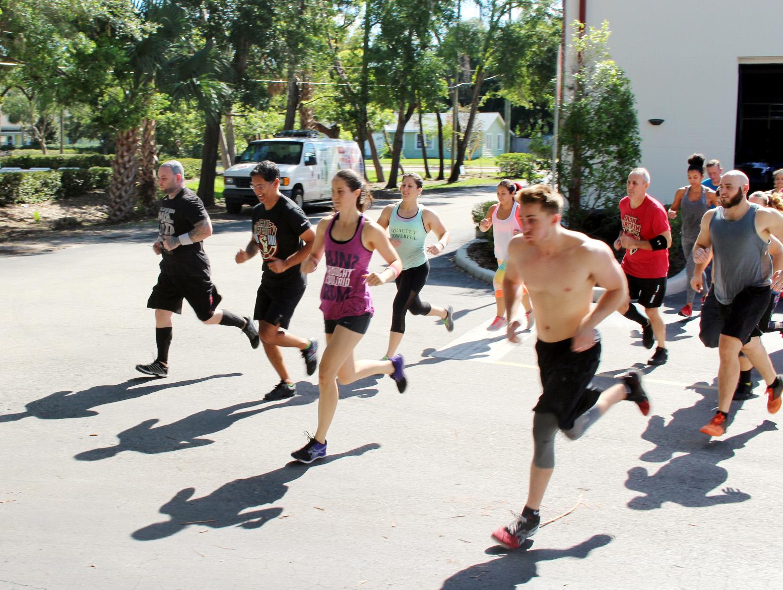 Saturday class starting the run