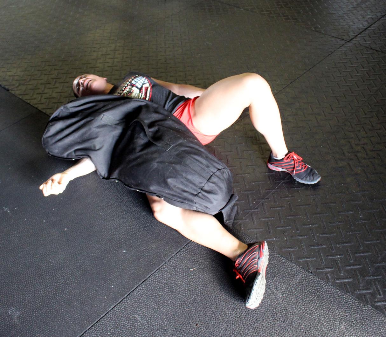 Melissa vs 120 lbs sandbag battle finale
