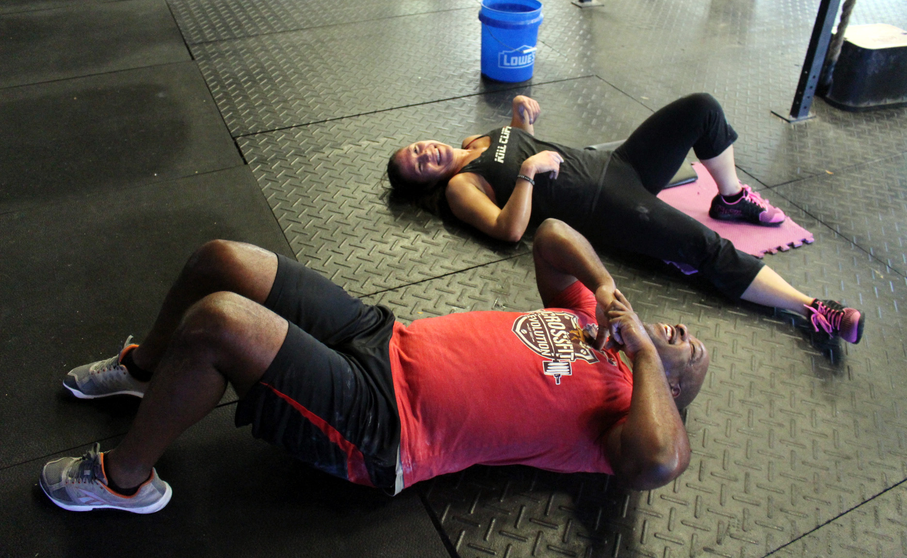 Sean & Monique post workout