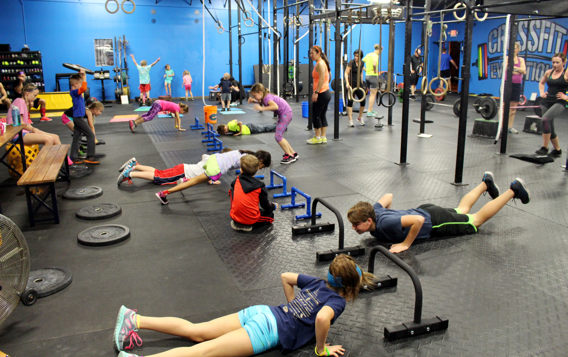 All ages working out!