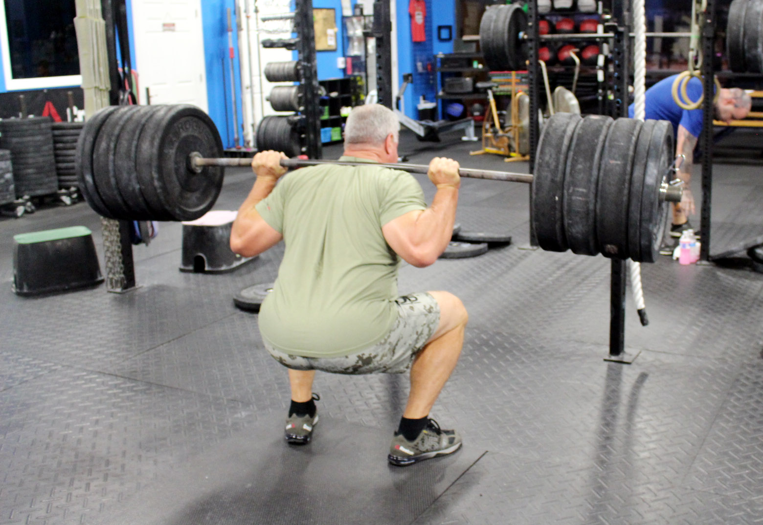 Ward with 355 lbs Back Squat at 50+ years young!