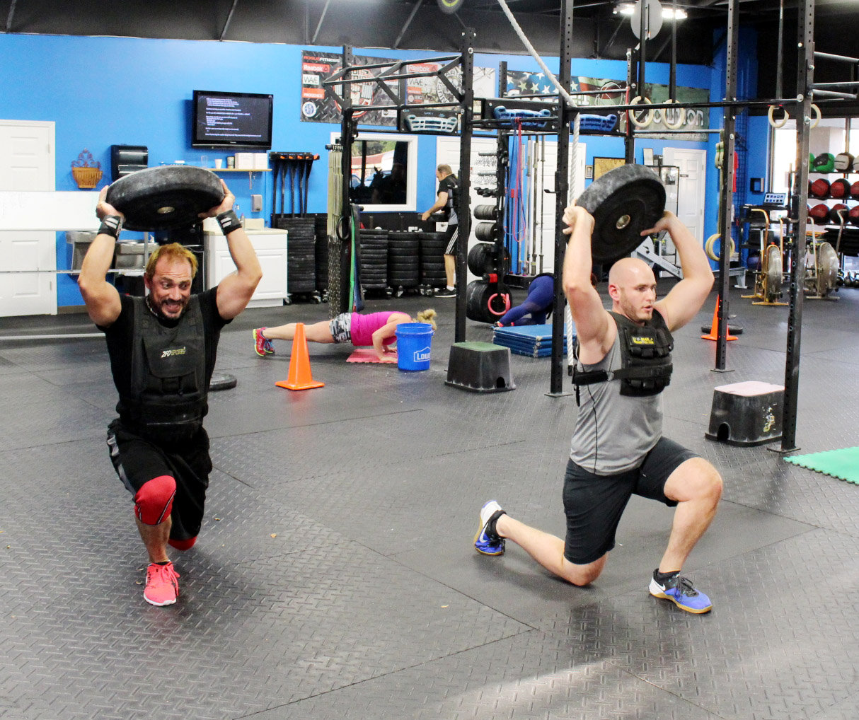 """Breaking out the weighted vests to get ready for """"Murph"""" soon"""
