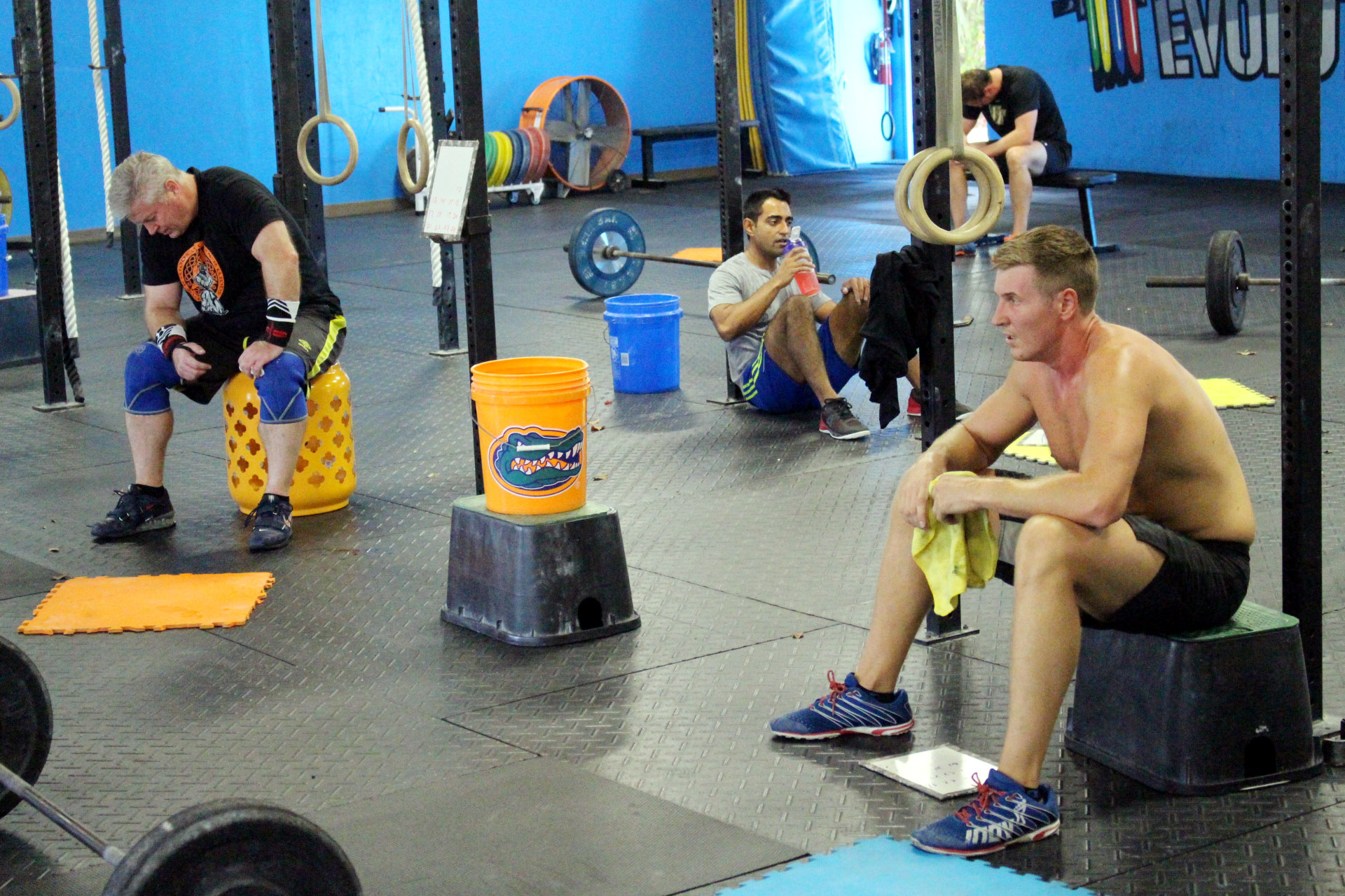 Spacing out during the 1 minute rest in the workout.