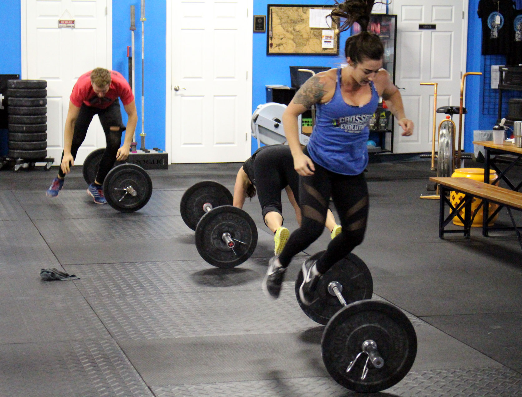 Over the bar burpees