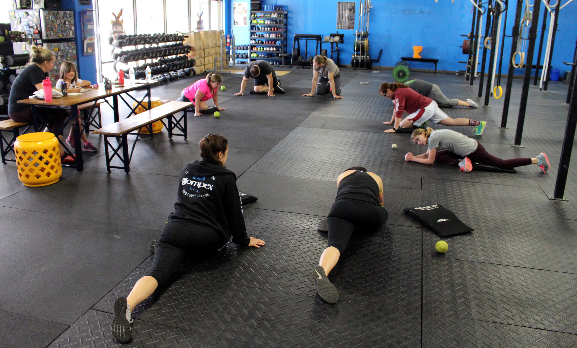 Working on hip mobility