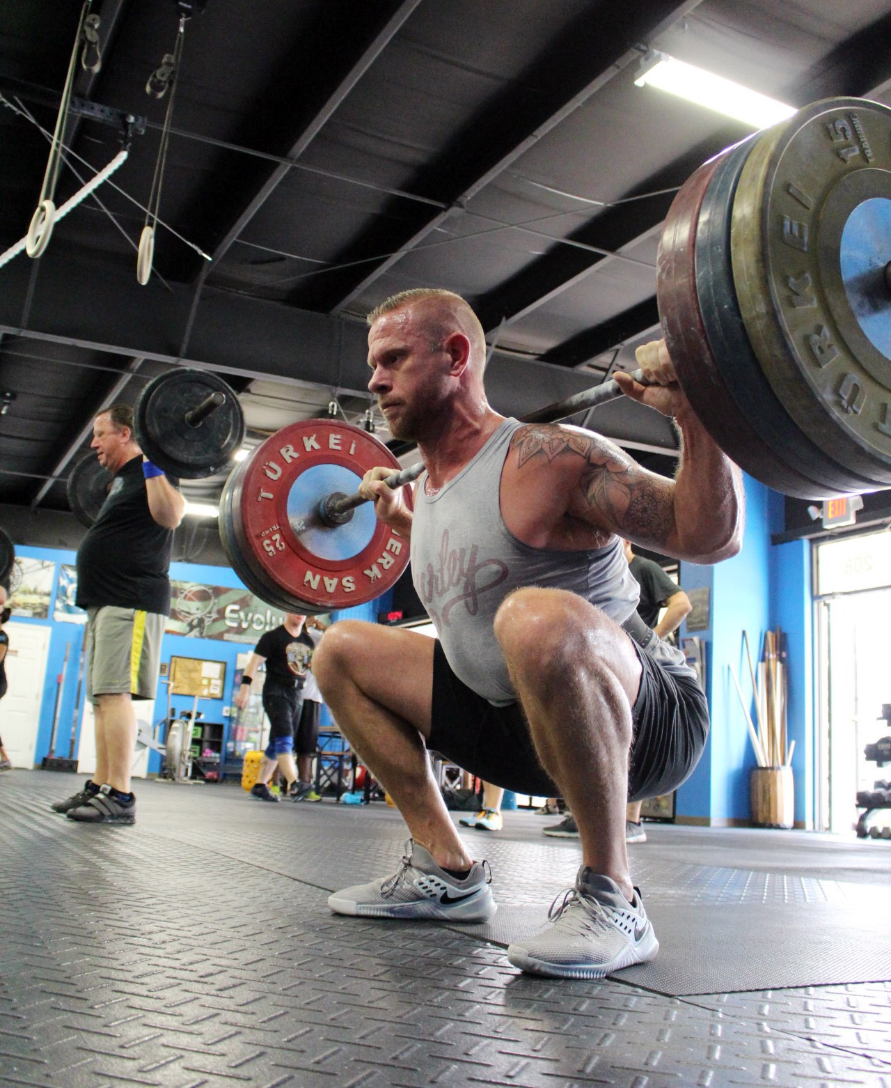 Ryan at the bottom of a Back Squat
