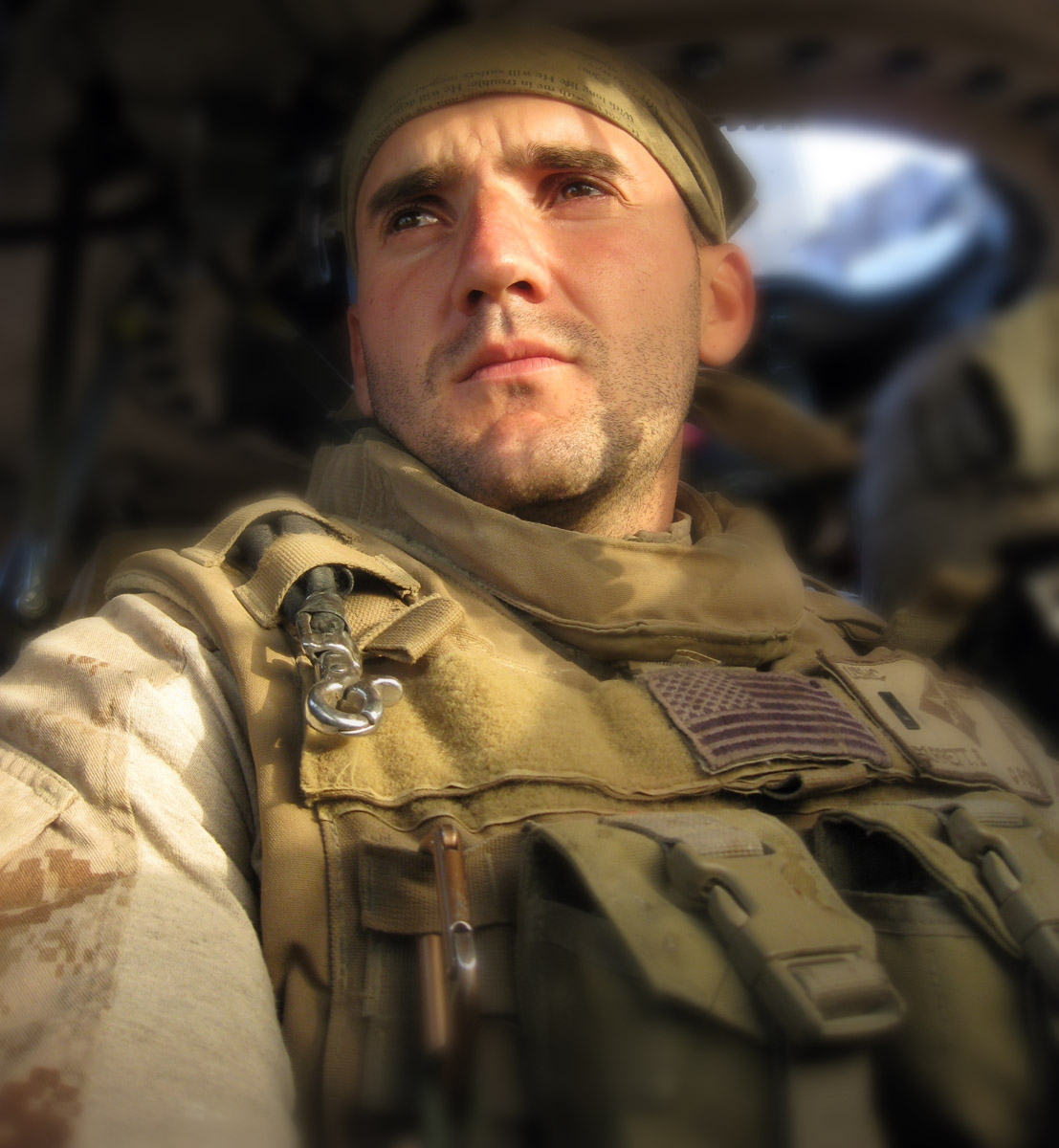 """U.S. Marine Corps Captain Brandon """"Bull"""" Barrett, 27, of Marion, Indiana, assigned to the 1st Battalion, 6th Marine Regiment, 2nd Marine Division, II Marine Expeditionary Force, based out of Camp Lejeune, North Carolina, was killed on May 5, 2010, while supporting combat operations in Helmand Province, Afghanistan. He is survived by his parents Cindy and Brett Barrett, his sisters Ashley and Taylor Barrett, his brother Brock Barrett, and his grandmother Carmen Johnson."""