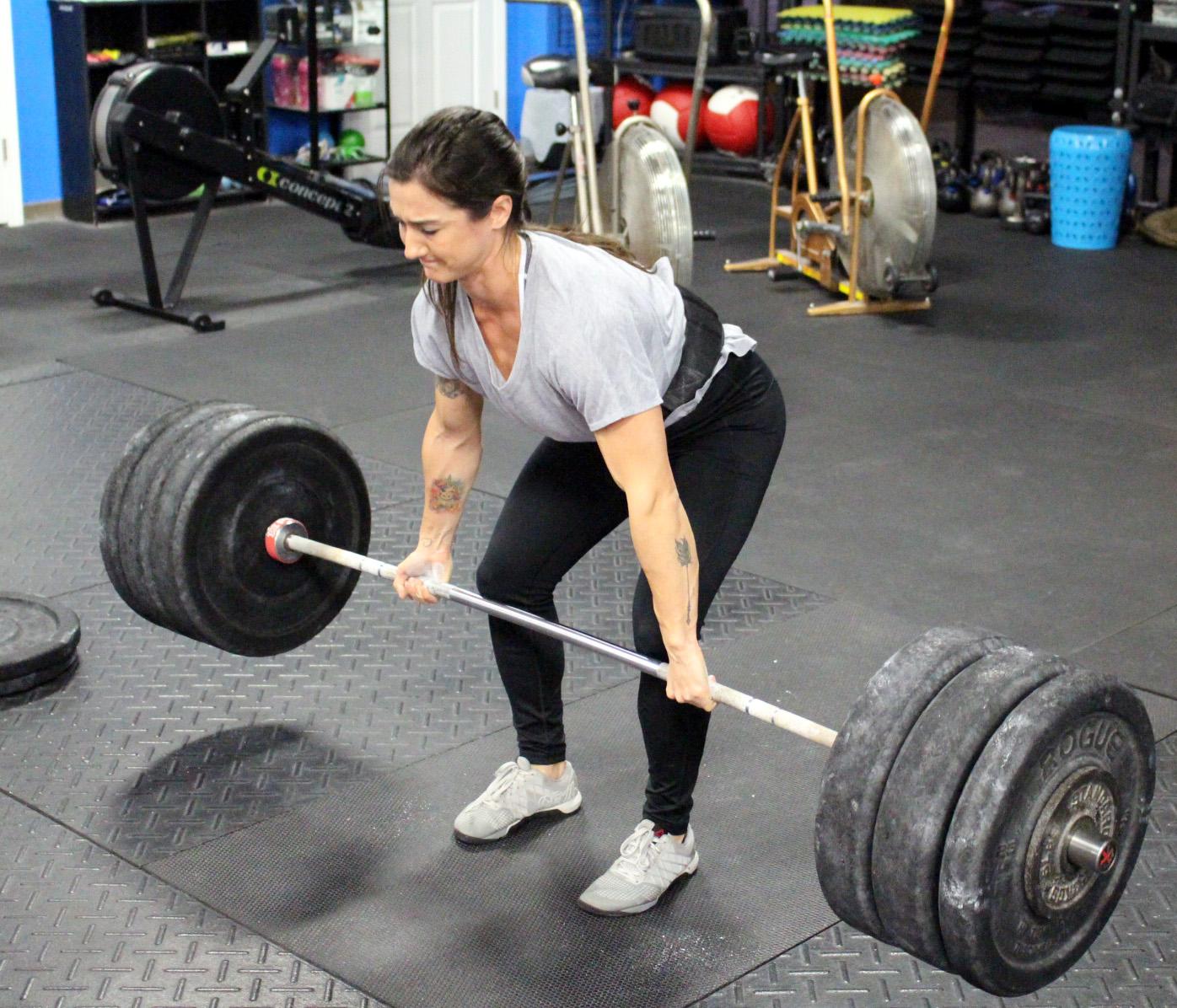 Alexa deadlifting 273 lbs