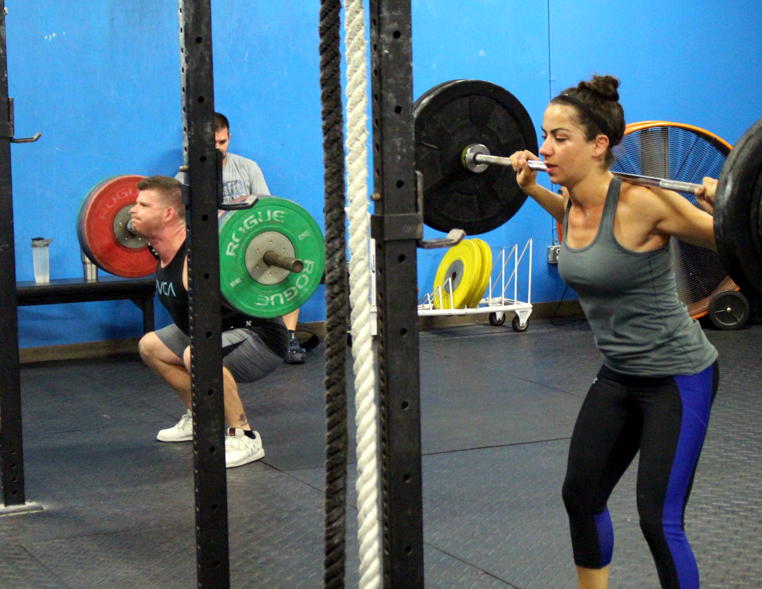 Keith & Ana doing back squats