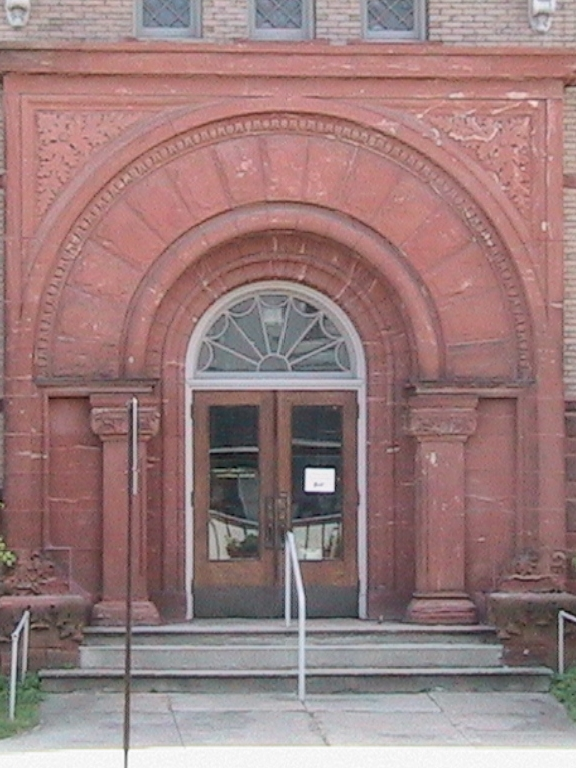 Romanesque Revival Entrance