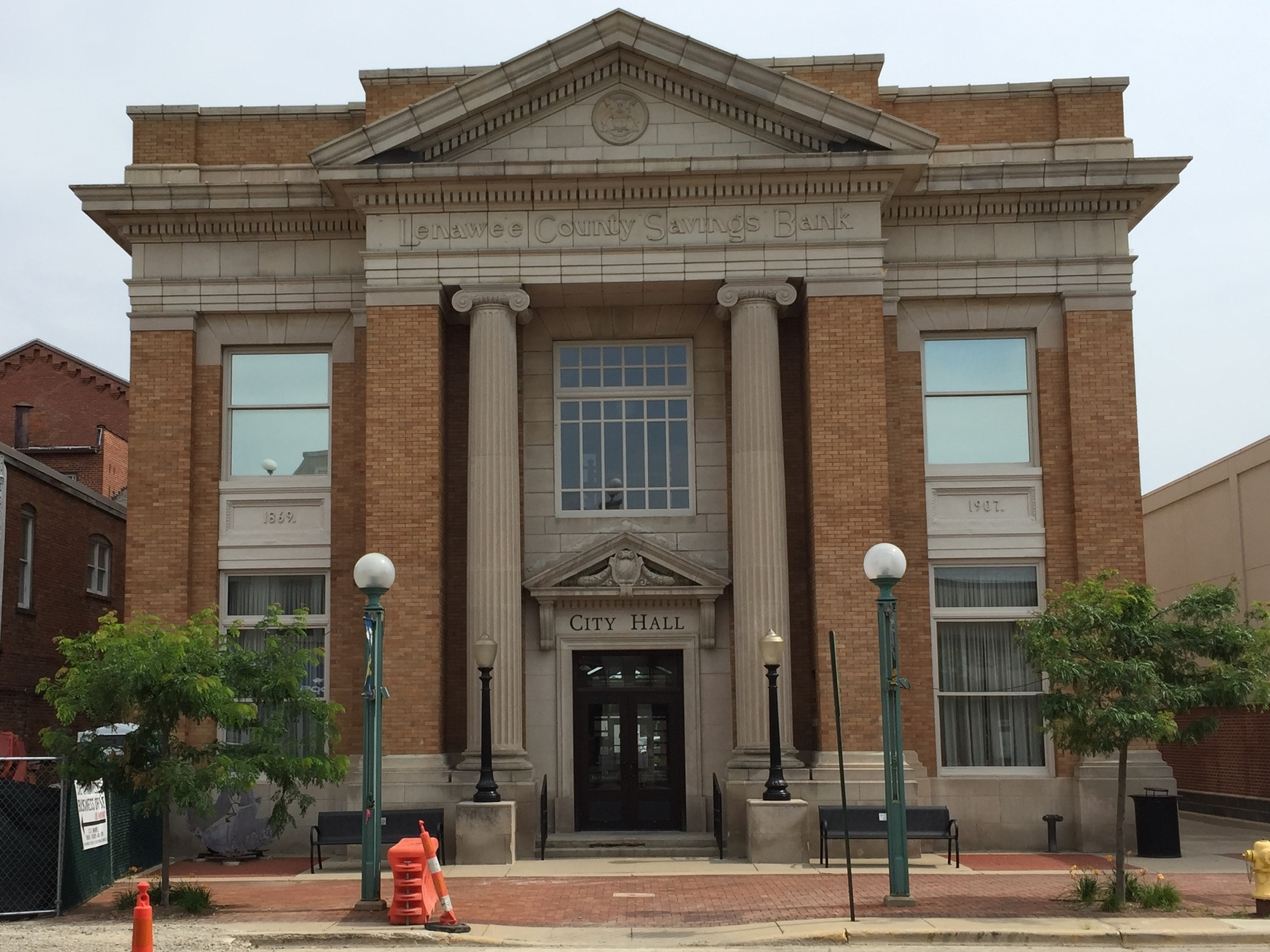 Adrian City Hall, 135 East Maumee Street, 1907