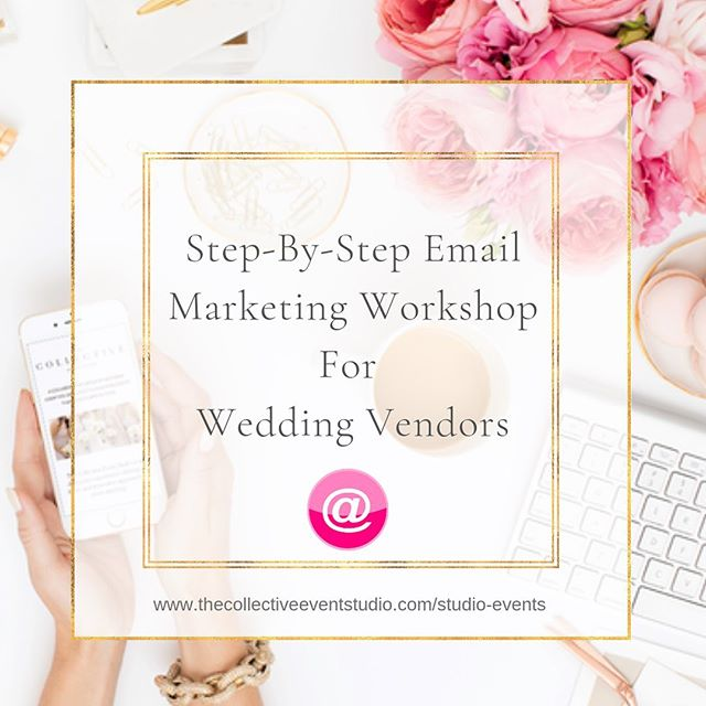 """THIS ONE IS FOR ALL OF OUR WEDDING PROFESSIONAL FRIENDORS! 💍👇 We are thrilled to welcome Rachele from@wrightoutcomesback to@thecollectiveeventstudioas our guest speaker for September's Collective Chat. Join us Tuesday, September 17th from 6:30 pm – 8:30 pm as Rachele presents """"Step-By-Step Email Marketing Workshop for Wedding Vendors"""". You've definitely heard that email marketing is something you should be doing for your business - but as a wedding vendor, you're just not sure how this area of marketing can actually benefit you.  Does anyone actually open emails anymore? Aren't couples going to feel bothered if I keep sending them emails? Why would anyone bother staying subscribed to my list even after their wedding?  During this start-to-finish Workshop we will learn why email marketing is an incredibly important tactic andsales generating opportunity that we are currently missing out on! While everyone is super focused on social media, Rachele is going to show us why we need to be showing up in couple's inboxes. • In this Email Marketing for Wedding Professionals Workshop, we'll go over: 👉Rachele's favorite email marketing systems that are super easy to set up and how to get ours up and running in just one day. 👉How to get people onto our email list and what we should actually be sending them. 👉How often to send emails to our list and start generating sales 👉General email marketing best practices to keep us on track with boosting business! • 👍BONUS:  We will receive access to Rachele's complete Email Marketing strategy guide to put everything we go over into practice.• ✨September's Collective Chat is open to all creatives wishing to learn more about#EmailMarketingfor their wedding and event business!✨•Space is limited so be sure to register early by visiting our website www.thecollectiveeventstudio.com/studio-events#linkinbio• Collective Chats are free for our studio members and $15.00 for non-members! Not a member? Visit our website to learn how you can become a """