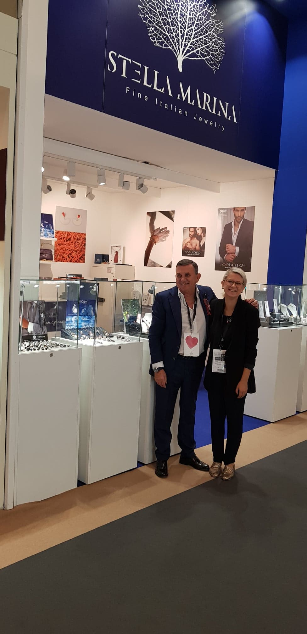 With professional mentor, the great Giuseppe Sciuto and his Capri jewelry