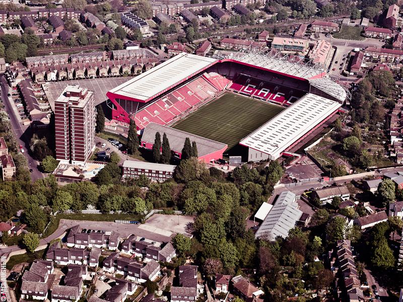 Goodyear Blimp Airship London Flight London Aerial Photography Hasselblad Jay McLaughlin Charlton Athletic Football Stadium Club