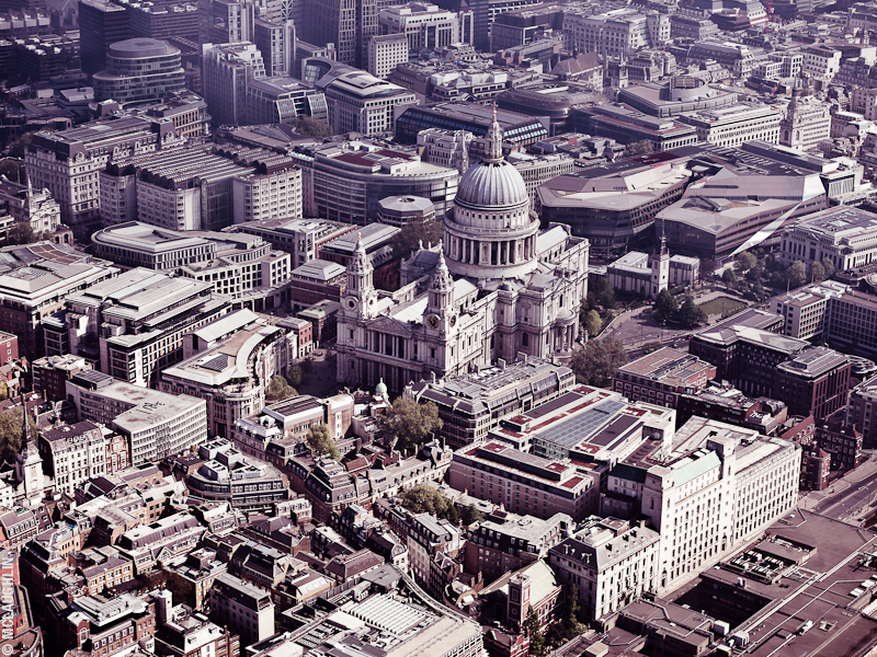 Goodyear Blimp Airship London Flight London Aerial Photography Hasselblad Jay McLaughlin St Paul's Cathedral
