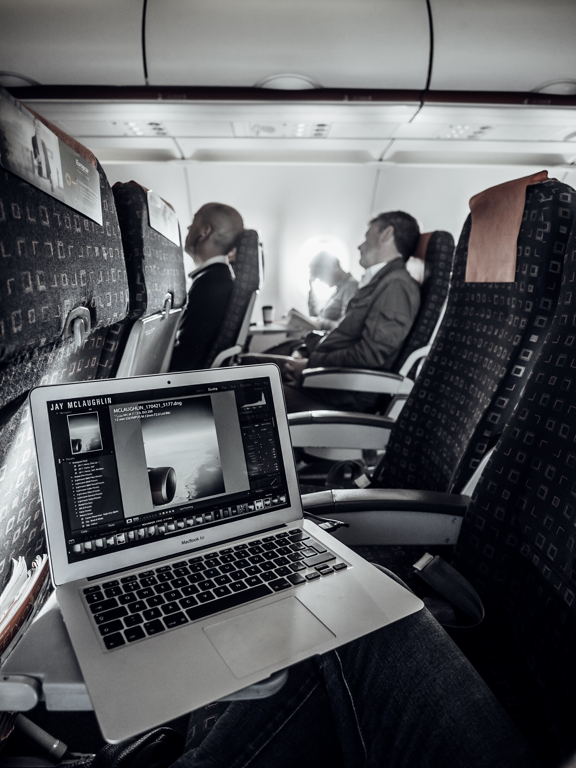 Olympus PEN 12mm f/2.0 Lens Wide Angle Editing Flight Travel Airplane Aeroplane Plane EasyJet Laptop MacBook Air Adobe Lightroom Creative Cloud Photography