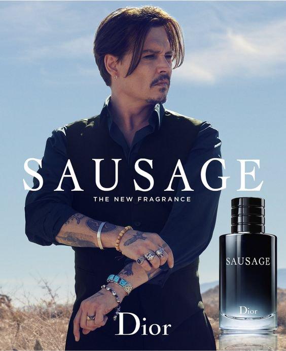 Sauvage Dior Sausage Parody Johnny Depp Funny