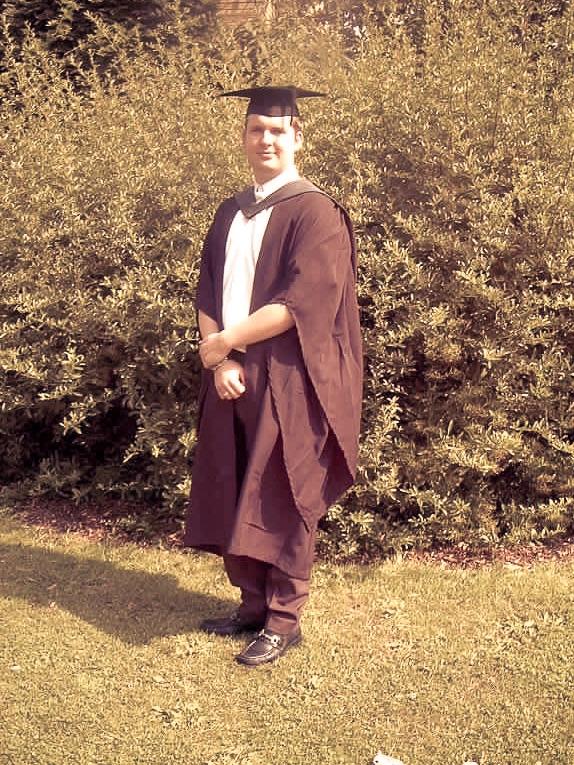 Graduation day, age 22