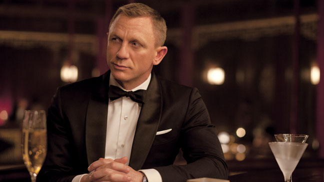 James Bond Style Icon 007 Daniel Craig Black Tie Bowtie Tuxedo