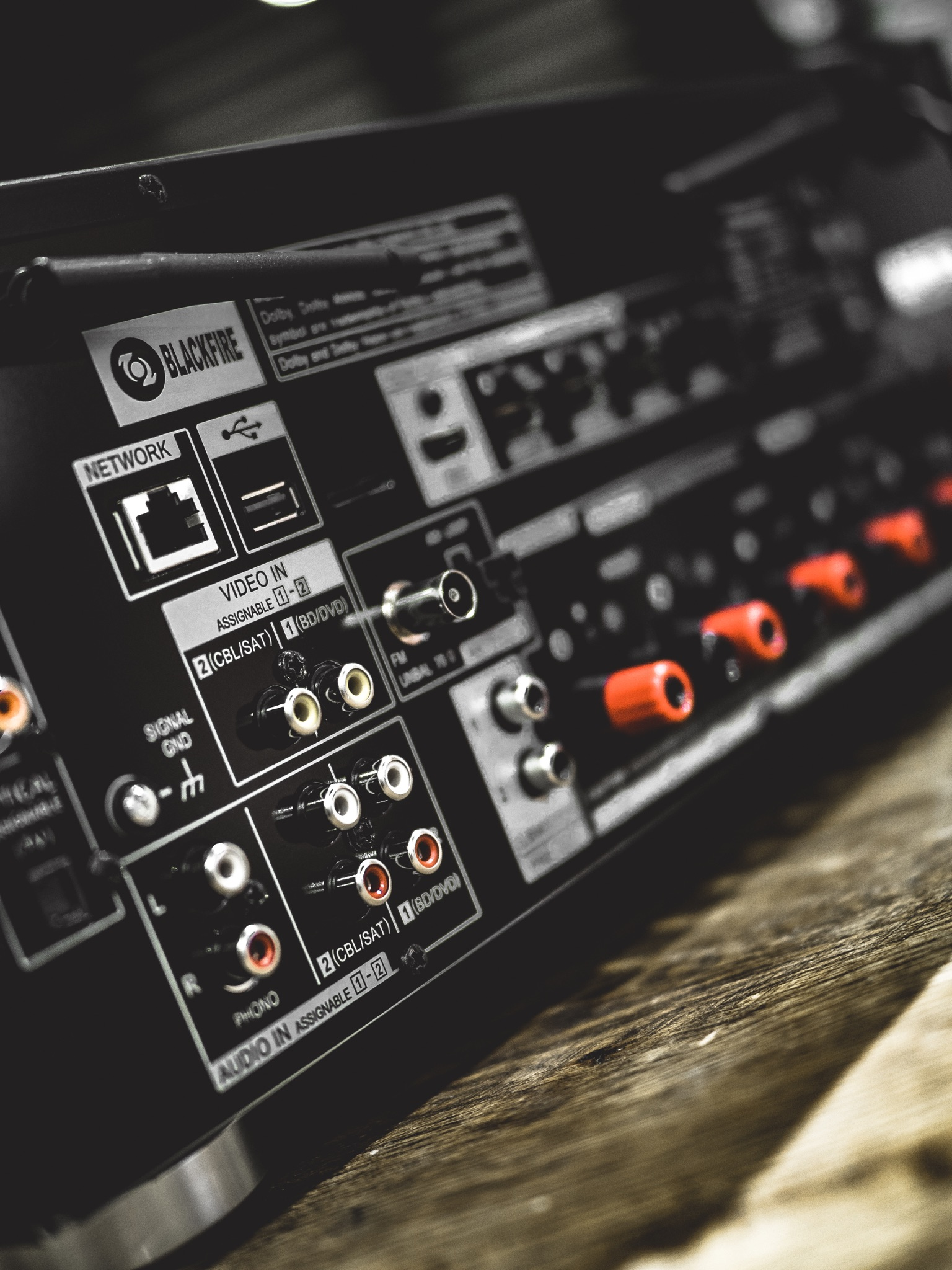 Home Cinema AV Surround Sound Pioneer VSX-932 Receiver Banana Plugs Cable Speaker IO I/O RCA