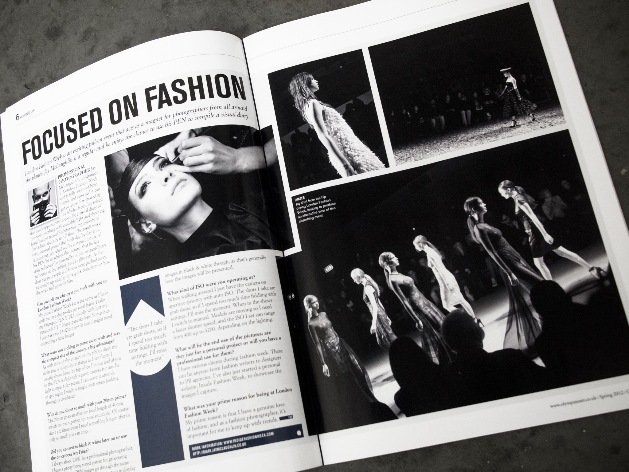 Olympus User Magazine Feature Article Fashion Week London LFW Runway PEN