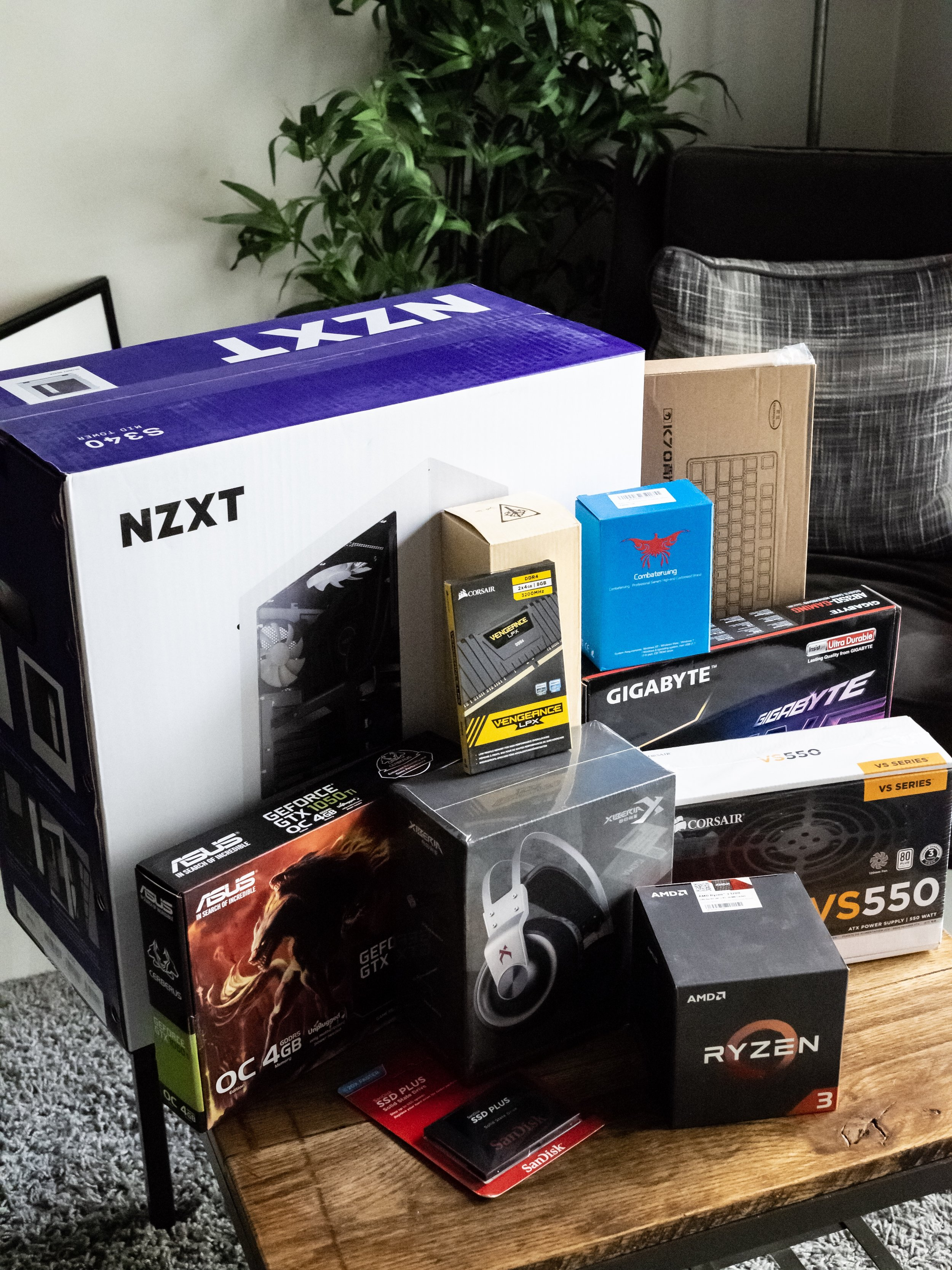 Gaming PC Build Amazon Packages Delivery Haul