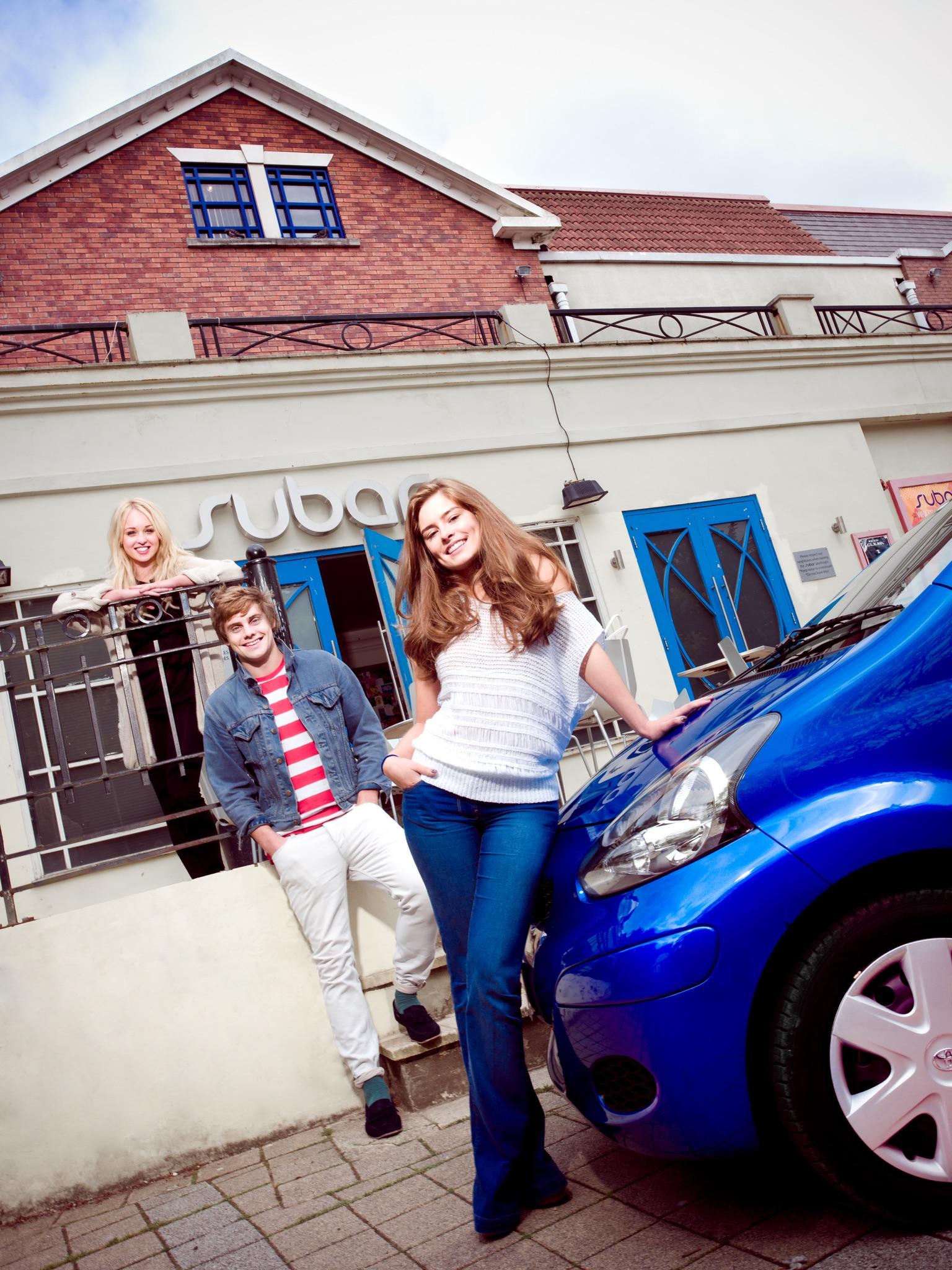 First Car Magazine Editorial Celebrity Photoshoot Editorial Hollyoaks Jorgie Porter James Atherton Rachel Shenton SU Bar Jay McLaughlin