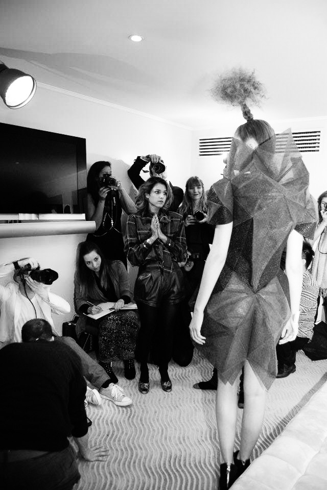 Bryce Aime Live Photoshoot LFW London Fashion Week Mayfair Hotel Jay McLaughlin SS12 Hasselblad Broncolor Klaudia Sonia Zogala Herman Ho BTS Behind the Scenes