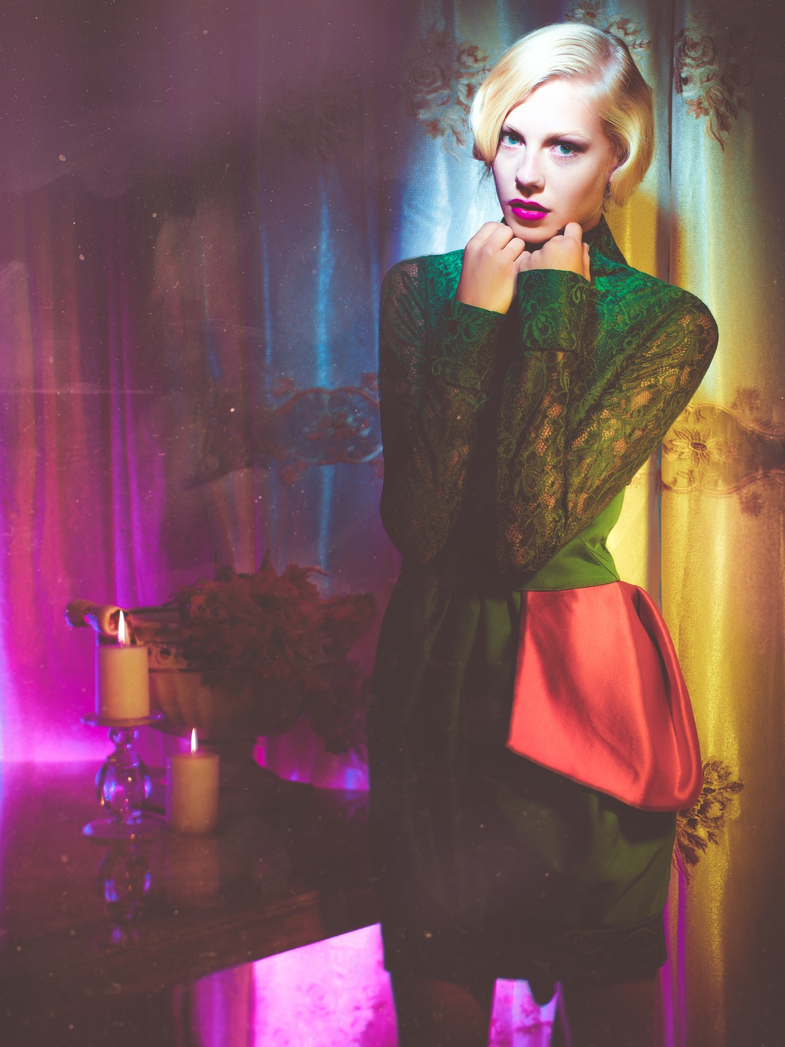 Jay McLaughlin Fall into Colour Color Access-Fashion Hanna Hultberg Lighting Gels Photoshoot Editorial Fashion