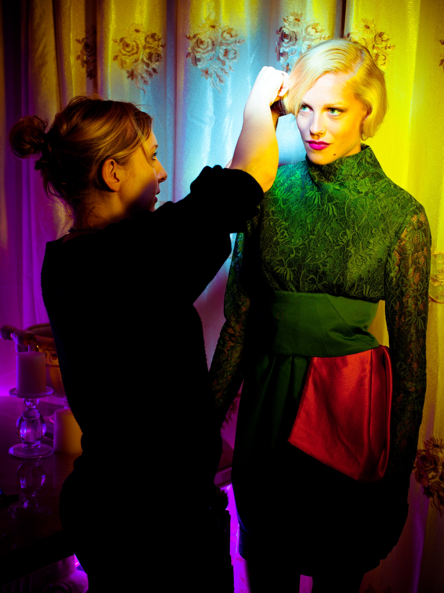 Jay McLaughlin Fall into Colour Color Access-Fashion Hanna Hultberg Lighting Gels Photoshoot Editorial Fashion BTS Behind The Scenes